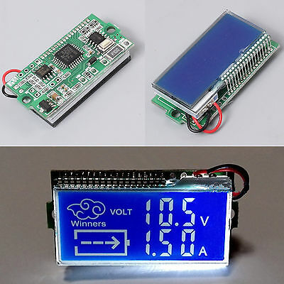 LCD DC 3A 30V Thermometer Non-independent Power Voltage Ammeter