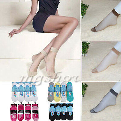 10  Pairs Ladies 20 DENIER SHEER ANKLE HIGH knee Ultra Pop Socks UK SIZE 4-7