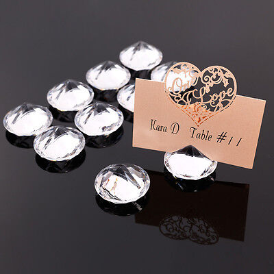 10x Diamond Wedding Table Number Stand Place Name Card Holder Decoration