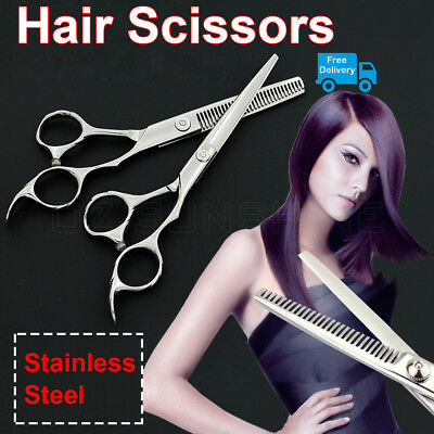 "Professional 6"" Barber Shears Hair Cutting Thinning Scissors Hairdressing Salon"