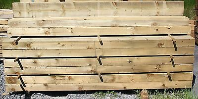 "NEW Timber Garden Railway Sleeper Treated Softwood 8ft x 8"" x 4"" Raised Beds"