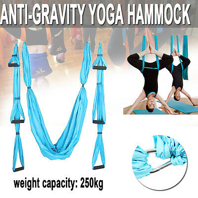 Aerial Yoga Swing Trapeze Fitness Home Gym Hammock Pilates  Inversion Sling Silk