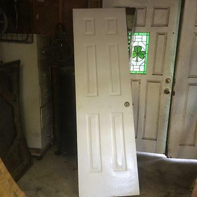 "Used Interior Door White 24"" Wide X 1-1/2"" Thick X 6-8"" Tall"