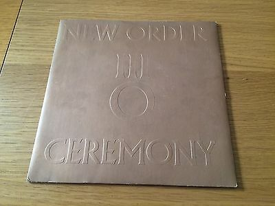 "New Order - Ceremony - 1981 7"" P/s - Buy 3 7""s & Pay Postage For 1 Any Country"