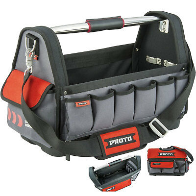 Open Tote Tool Bag with 10 Pockets Proto Tool J120TB New