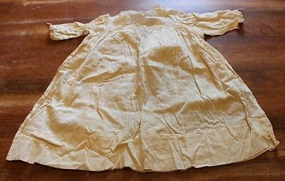 Antique Baby Toddler Night Gown Cream off White Handmade Embroidered Bobbin Lace