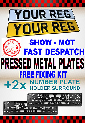 ***3D** High Quality Car Number Plates Show Plates Front & Rear Pair With Border