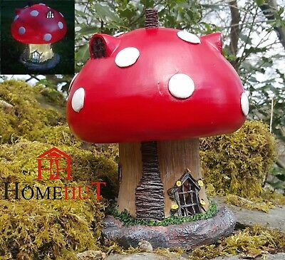 Garden Fairy Mushroom House Solar Decorative Ornament Secret Gift