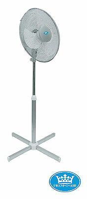 Prem-I-Air 16'' 40cm Home Office Oscillating Pedestal Fan With 3 Speed Silver