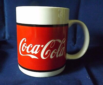 1996 Coca Cola Ceramic Coffee Cup Mug by Gibson -- Red & White