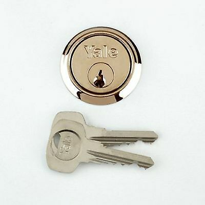 YALE Replacement Rim Cylinder Door Lock with 6 Keys for Yale Era Brass Finish