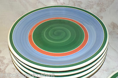 Furio Italy Blue Green Dinner Plates Lot Of 5 Exc & FURIO ITALY Blue Green Dinner Plates Lot Of 5 Exc - $15.00 | PicClick