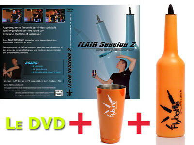 Flair Bottle For Barman Flybottle Classic Neon + Shaker + Dvd Flair Session 2