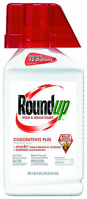 New Roundup 5005610 Weed and Grass Killer Plus Concentrate Bottle, 36.8-Ounce