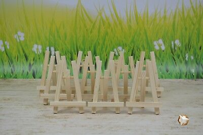 10X Mini Wooden Easel 5''  For Wedding, Name Holder Or Table Number