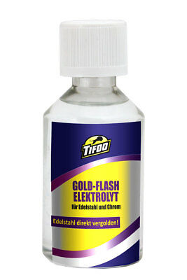 Gold plating solution Flash (100 ml) - For stainless steel and chrome
