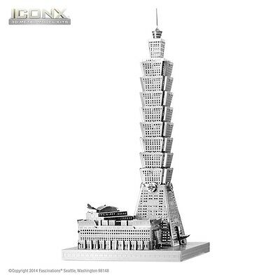 Fascinations Metal Earth Taipei 101 ICONX Laser Cut 3D Model