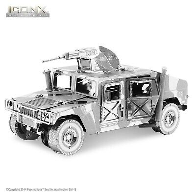 Fascinations Metal Earth Humvee ICONX Laser Cut 3D Model