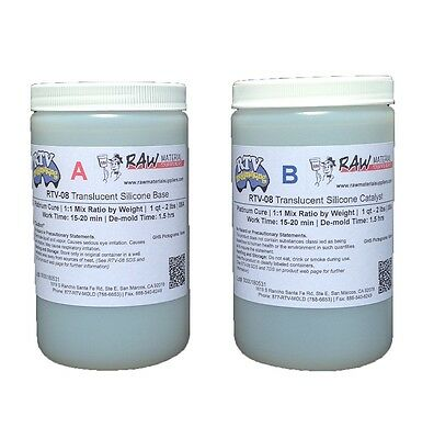 RTV-8 - 1:1 Mix Platinum Cure Mold Making Silicone 8A Durometer (Skin-Like)