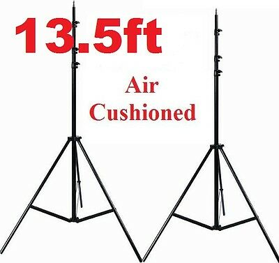 Pro studio Heavy Duty 2x 13.5ft Air cushioned Stand All Metal Locking Collars
