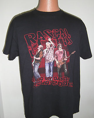 Rascal Flatts-2006 Concert Tour--Official Large T-Shirt-Black-Country Music