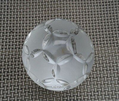 Crystal Soccer Ball Paperweight, Collectors