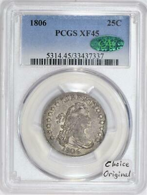 1806 Bust Quarter PCGS XF-45; Choice Original!