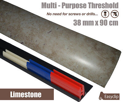 Limestone Laminate Transition Door Strip 38mm x 0.90mtr Multi-Height and Pivot