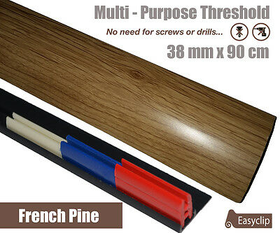 French Pine Laminate Door Strip Transition 38mm x 0.90mtr Multi-Height and Pivot