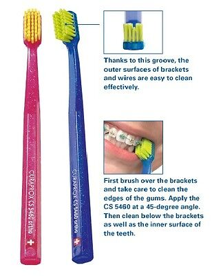 Curaprox CS 5460 Ortho Ultra Soft-Toothbrush for Braces - Choose YOUR Colour :-)