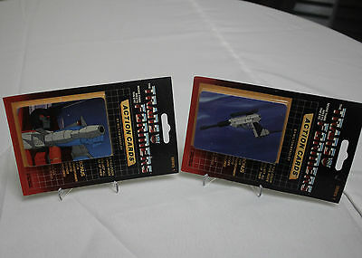 Vintage 1985 G1 Megatron gun Starscream Sealed Packs Transformers Action Cards
