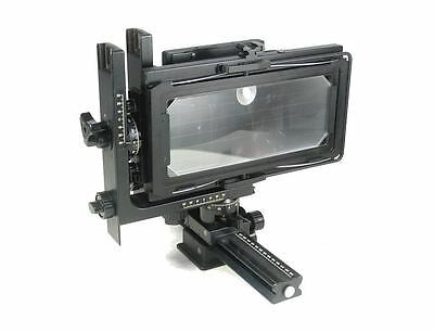 4X10 inch format frame per Horsman L series single rail view camera