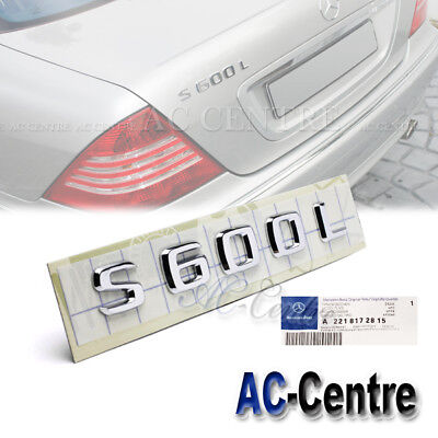 S65 MERCEDES BENZ OEM GENUINE REAR BOOT TRUNK LETTER EMBLEM BADGE for S CLASS