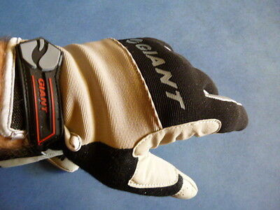 GIANT Cycling Full Finger Antiskid Windproof Silicone Gel Gloves Black
