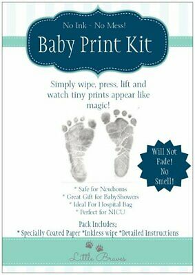 Inkless Baby Hand and Foot print Extra paper kit in black pink and blue
