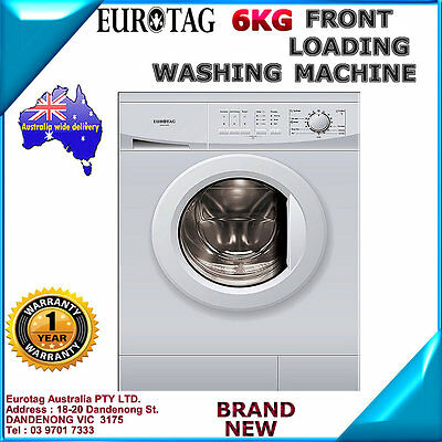 EUROTAG 6KG Front Loading Washing Machine Model XQG60-A208TE BRAND NEW