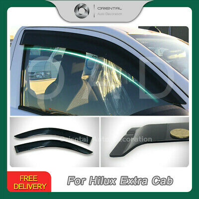 Injection Weather Shields Weathershields Window Visor Hilux Extra Cab 2pcs 15-18