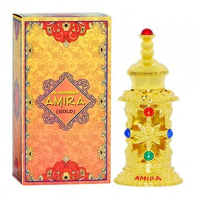 Amira Gold 12ml Sweet Floral Musky Woody Bergamut Perfume Oil by Al Haramain