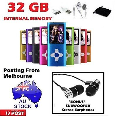 "AU Stock 32GB 1.8"" LCD MP3 MP4 Music Video Media Player Radio FM"