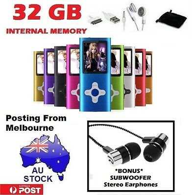 "iPod Style Portable 1.8"" LCD 32GB MP3 MP4 Music Video Media FM Radio Player"