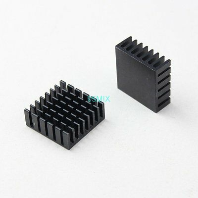 20pcs Black Aluminum Heatsink For CPU VGA RAM Chips IC Cooling 25mm 10mm 25x10mm