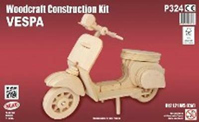 Vespa Woodcraft Construction Kit - Fsc Wooden Model Game Building Puzzle Toy NEW
