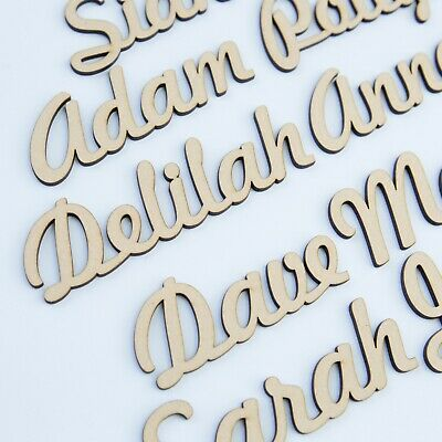 Personalised Script names, letters or words. Wooden 3.2mm thick High Quality MDF