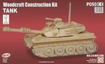 Tank Woodcraft Construction Kit - Fsc Kids Wooden Model Game Building Puzzle NEW
