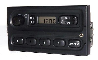Ford 2001 E350 SD Super Duty Van Radio - AM FM Upgraded w Auxiliary Aux Input