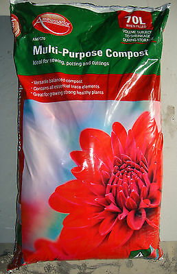 Ambassador Multi Purpose Gardening Compost 70L - Ideal for sowing, potting, cuts