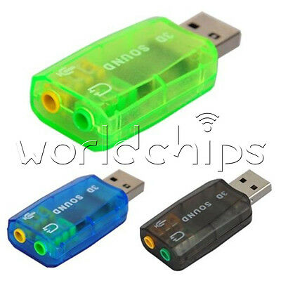 CM108 Chipset USB 2.0 to 3D AUDIO SOUND ADAPTER CARD VIRTUAL 5.1 CH Sound Track