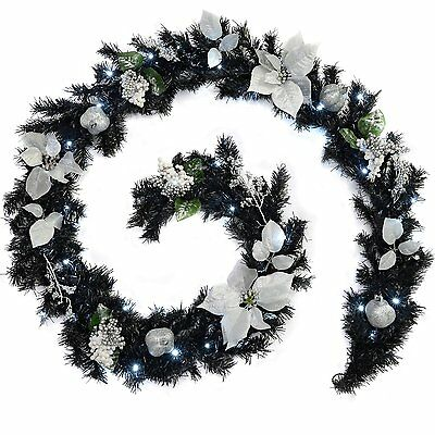 WeRChristmas 9 ft Decorated Pre-Lit Garland Christmas Decoration Illuminated wi