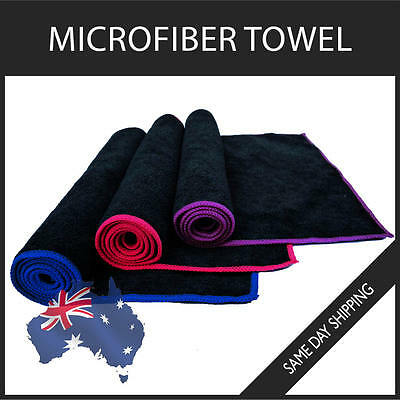 Microfiber Towel Gym Sport Footy Travel Camping Swimming Beach Microfibre Colour