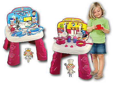Kids Children Play Kitchen and Doctor Nurse Medical Role Play Pretend Set Toy